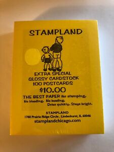 Stampland Extra Special Cardstock Glossy 100 Postcards Best for Stamping NEW