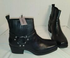NEW WOMEN'S VAGABOND ARIANA BLACK LEATHER HARNESS ANKLE BOOTS US 8 EUR 38