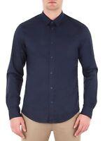 Ben Sherman Mens Cotton Stretch Poplin Shirt Slim Fit Long Sleeve Regular Collar