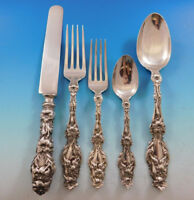 Lily by Whiting Sterling Silver Flatware Set for 6 Dinner Service 31 Pieces