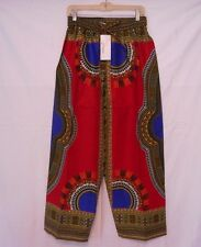 Dashiki African Mens Womens Pants Cotton Aladdin Yoga Harem Unisex One size