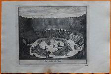 VAN DER AA Gravure originale c1725 LA SALLE DU BAL Jardin de Versailles
