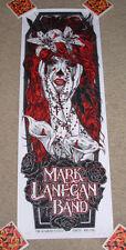 MARK LANEGAN BAND concert gig poster print DUBLIN 2012 7-3-12 silkscreen tour