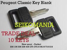 10 CLASSIC PEUGEOT 205 clÉ VIERGE clés CLEF LLAVE 309 405 MI16 GTI RENAULT 4 5