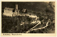 Eisenach Thüringen alte Postkarte 1950 Blick auf die Wartburg Fliegeraufnahme