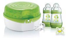 Mam Microwave Steam Steriliser, Bottles & Dummy Green