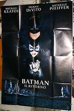 manifesto 4F originale BATMAN IL RITORNO Michael Keaton Tim Burton 1992