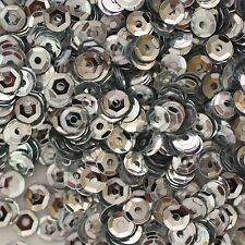 4mm Cup SEQUIN FACET PAILLETTES ~ SILVER Metallic ~ Made in USA