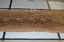 Beautiful Large Genuine Brown / Black  Snake Skin Leather  Hide Mdda