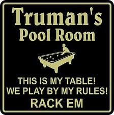 Personalized Pool Room Billiards Sign Bar Beer Pub Gift #4 Custom USA Made