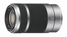 NEW SONY E 55-210mm F/4.5-6.3 OSS SILVER LENS for a7 a7R NEX E-mount NEXTDAY D