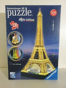 Ravensburger 3D Eiffel Tower Night Edition 216 Piece Puzzle