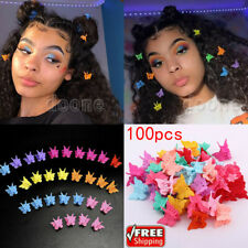 100pcs Butterfly Mini Hair Clips Hair Jaw Hair Styling Claws Barrettes Kids Girl