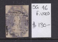 Tasmania: 6d Grey Violet Qv Chalon Sg46 Fine Used.