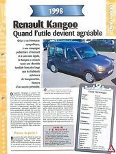 Renault Kangoo  1998  France Car Auto FICHE FRANCE