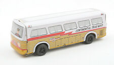 Vintage Japanese Tinplate Friction Drive Continental Trailways Silver Eagle Bus