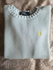 Genuine Ralph Lauren 6-7 years boys knitted crew jumper sweater blue designer