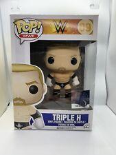 WWE FUNKO POP VINYL TRIPLE H HHH NEW IN BOX 09 wrestling figure