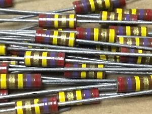 (10 PC)  AB  RCR20G274JS  Resistor Carb Comp 1/2W 270K OHM 5% S-Level