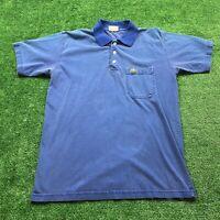 Vintage 80's Lacoste Polo Size Medium Men's Blue Collared