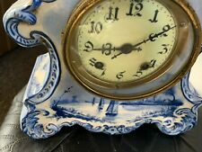 ANTIQUE PORCELAIN MANTLE CLOCK