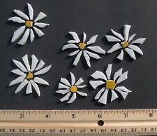 White Daisy Flower Tiles - Broken Cut China Plate Mosaic Tile Set,