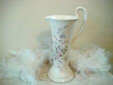 Beige floral vase with handle, Aldridge Pottery, floral Pitcher, Jug, Table Deco