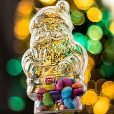 x10 Père Noël Transparent Boule à remplir Décorations De Noël (120mm Haut)