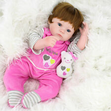 "16"" Realistic Handmade Reborn Baby Dolls Girl Newborn Lifelike Vinyl Alive Soft"