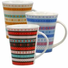 Trendy Mug Ethnic Design - Set of 3 Assorted (Multicolor)