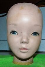 VINTAGE  MANNEQUIN YOUTH CHILD HEAD CREEPY Department Store Hat Display