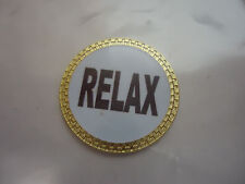 Relax Golf Ball Marker Gold Finish