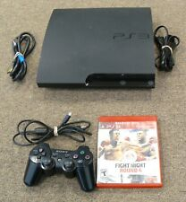Sony PlayStation 3 PS3 SLIM 160GB Game Console System Tested  CECH-3001A (2)