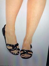 NIB Melissa + Jeremy Scott Women's PVC TUBE Sandal BLACK  MSRP $110 Size 8