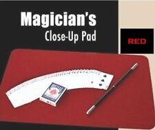 """CLOSE UP MAT PAD (RED) USA Magic Trick Accessory Large 21"""" x 15"""" PRO w/PADDING"""