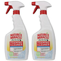 2pk Nature's Miracle 24oz Foaming Cleaner Pet Pee Stain & Odor Remover Cats Dogs