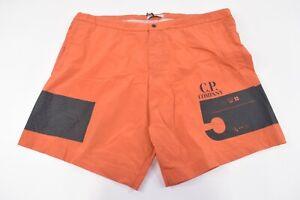 C.P. (CP) Company NWT Beachwear Boxer Swim Suit Size 48 S US In Orange & Black