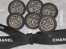 Chanel 6 Metal Cc Logo Front Lion Plum Button 17 Mm / New lot 6