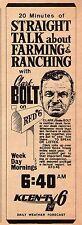 1970 KCEN TV AD~CLARK BOLT~STRAIGHT TALK ABOUT FARMING-RANCHING~WACO,TEXAS