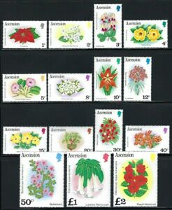 1981 Ascension, Flowers Set of 15, sg282a-296a MNH