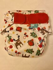 Totsbots Re-usable Cloth Nappy Easyfit Star CHRISTMAS LIMITED EDITION RARE Print