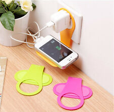 2X Foldable Mobile Cell Phone Wall Plug Charger Charging Rack Hang Holder Socket