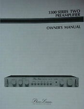 PHASE LINEAR PL 3300 Series II PREAMPLIFIER OWNER MANUAL 16 Pages