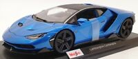Maisto 1/18 Scale Model Car 46629E - Lamborghini Centenario - Met Blue