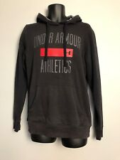 Under Armour Hoodie Charcoal Grey, Large Chest Print, Coldgear, Reg Small, GC