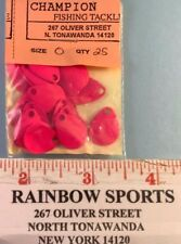 "Worm Harness Spinner Blades 25 Colorado #0 Fl. Pink - 5/8"" long"