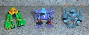 Zbots GALOOB Z-Bot 3 Figurine Lot Bladeroller Grippet Stealthoid