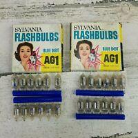 Vintage Sylvania Flashbulbs Blue Dot AG1 24 Bulbs