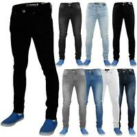 Mens Skinny Jeans Stretch Slim Fit Denim Casual Pants Trousers All Waist Sizes