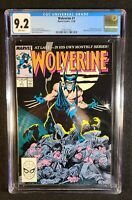 Wolverine #1 (Nov 1988, Marvel) CGC 9.2 NM-